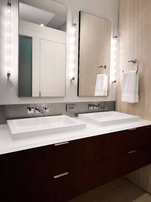 Bathroom Lights Mounted On Mirror mirror-mounted bathroom sconces | houzz