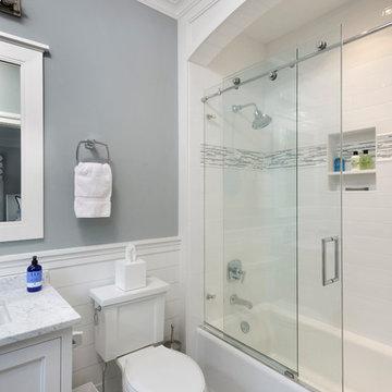 Nantucket Shingle Style Beachside Home Guest Bathroom