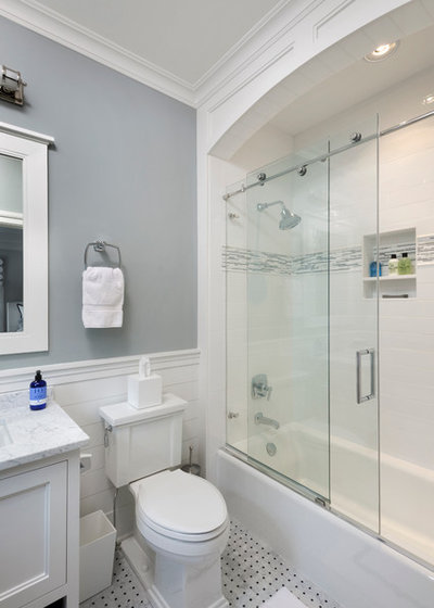Transitional Bathroom By Bluewater Home Builders Shower Screens