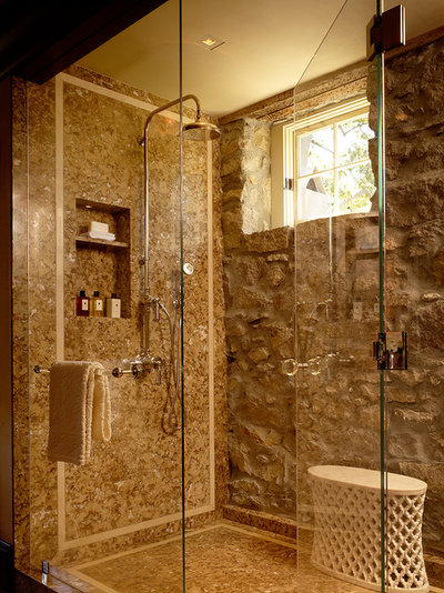 Rustic Bathroom by No. 8 Lighting