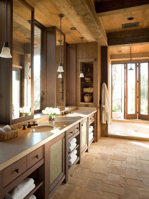 rustikale badezimmer mit offener dusche ideen f r die. Black Bedroom Furniture Sets. Home Design Ideas