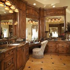 Mediterranean Bathroom by Busby Cabinets