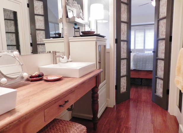 Turn a favorite piece of furniture into a vanity - Small french doors for bathroom ...