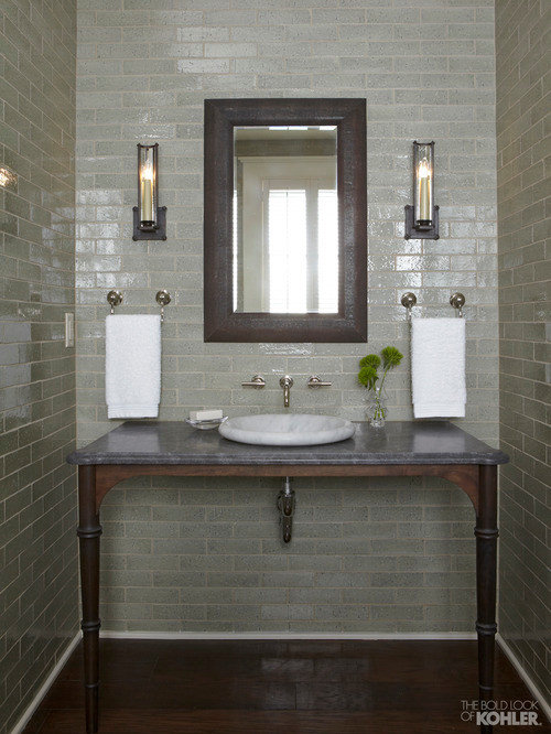 Sage Green Bathroom | Houzz
