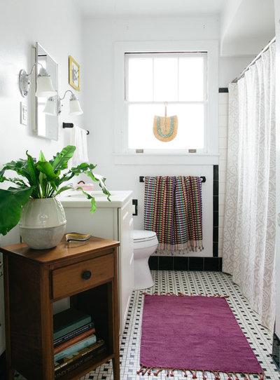 Eclectic Bathroom by Logan Killen Interiors