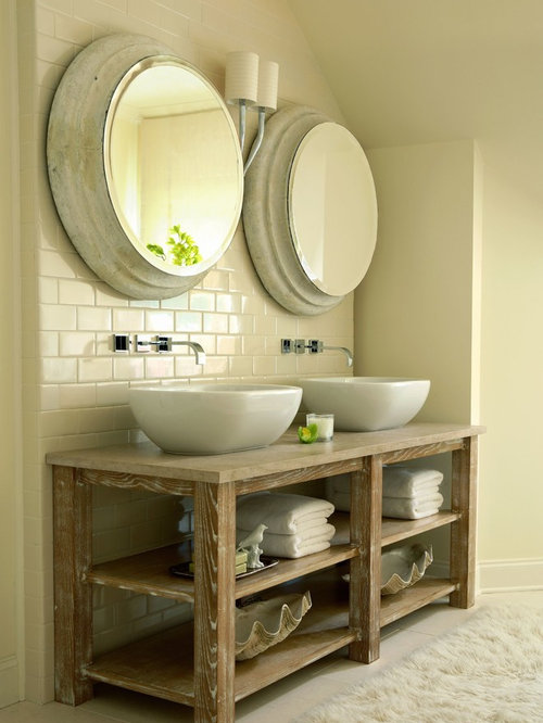Open Shelf Vanity Houzz