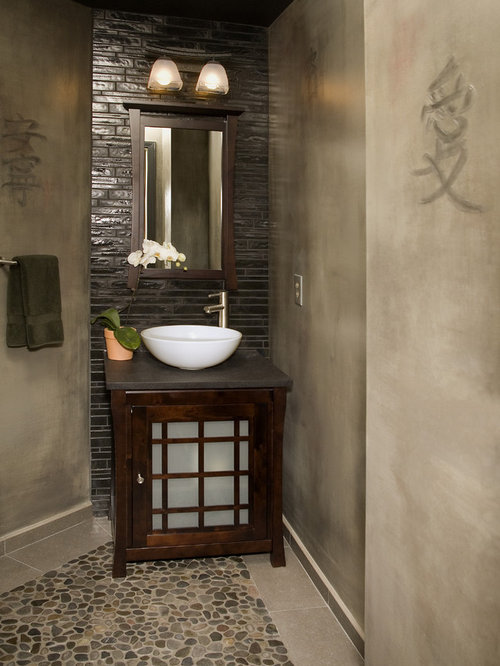 Small asian bathroom design ideas remodels photos for Asian small bathroom design