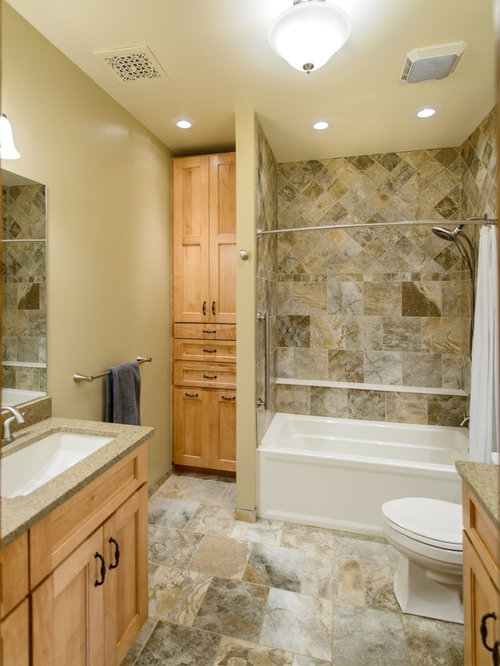 Yellow bathroom design ideas renovations photos with for Yellow and brown bathroom decor