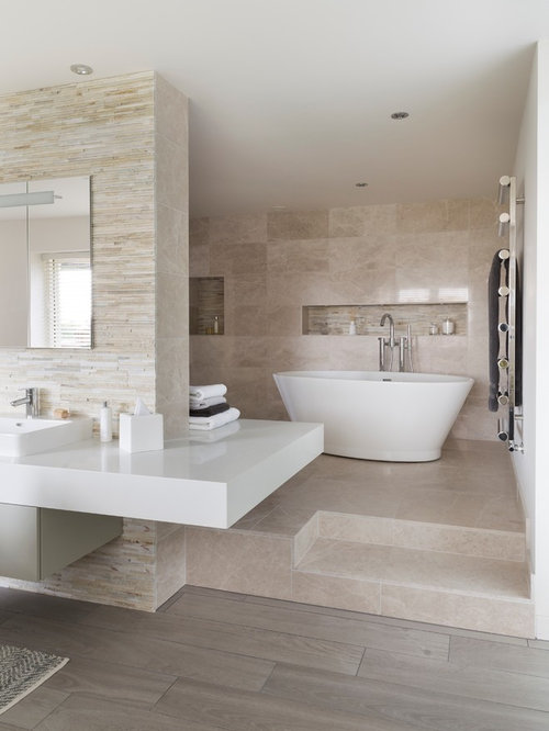 Grey And Beige Tones Bathroom Ideas Houzz