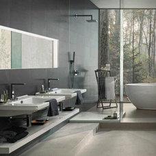 Modern Bathroom by Euro Ceramic Tile
