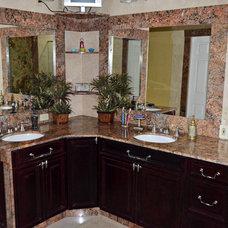 Mediterranean Bathroom by depotgranite
