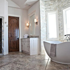 Rustic Bathroom by Carved Stone Creations, Inc.