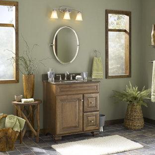 Exempel på ett exotiskt badrum