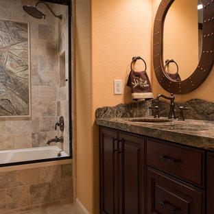 Nature-Inspired Hall Bath - Warm Tones