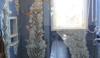 Nautical Undersea-themed Mosaic Tiled Shower