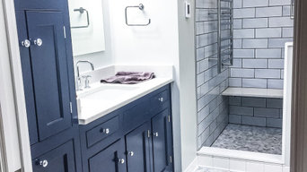 Navy & Marble Bathroom