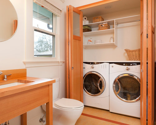 1 152 washer dryer bathroom design ideas remodel for Washer and dryer in bathroom designs