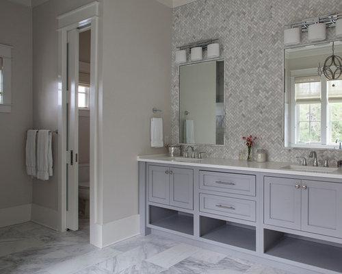 Stanza da bagno con piastrelle a mosaico jacksonville foto idee