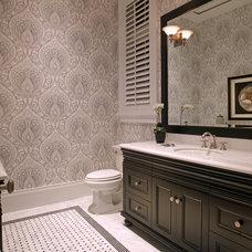 Traditional Bathroom by Jinx McDonald Interior Designs