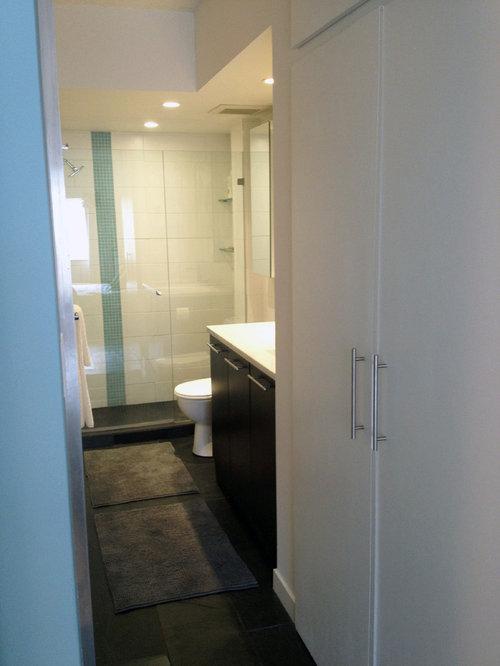 salle de bain moderne de taille moyenne photos et id es d co de salles de bain. Black Bedroom Furniture Sets. Home Design Ideas