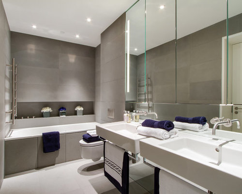 Bathroom Grey bathroom grey tile | houzz