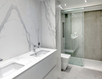 Neolith Monochrome Bathroom