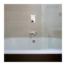 Contemporary Bathroom Neutral and Warm Bathroom