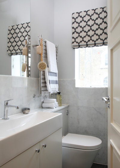 Transitional Bathroom by Jess Lavers Design
