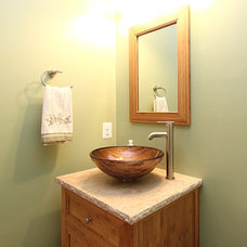 Craftsman Bathroom by New City Construction