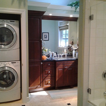 New Bathroom with Full Size Washer and Dryer