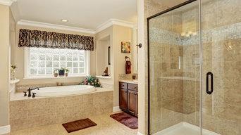 New Braunfels custom shower glass