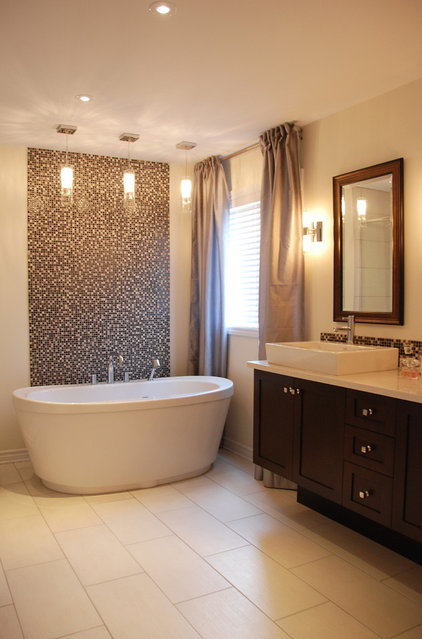 Contemporary Bathroom by Dwelling on Design, Deborah Derocher