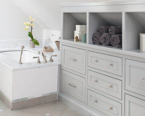 Knee wall drawers home design ideas pictures remodel and for Bathroom storage ideas new zealand