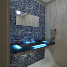 Contemporary Powder Room by RAM Affiliates, LLC dba The RAM Group
