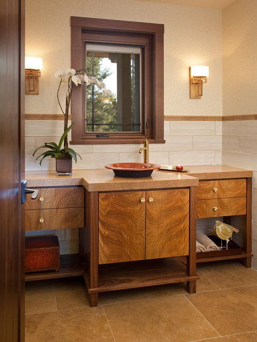 Best gold faucet design ideas remodel pictures houzz for Craftsman bathroom design