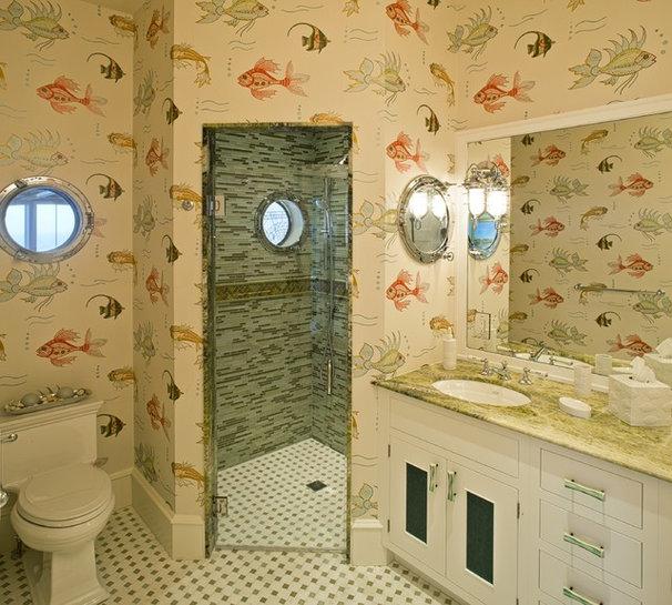 Eclectic Bathroom by Dewson Construction Company