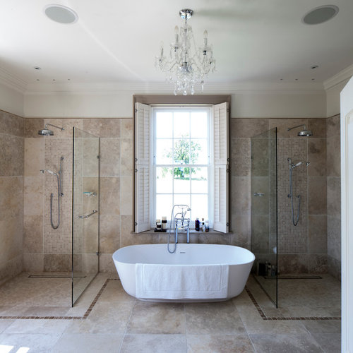 His and hers shower home design ideas pictures remodel for His and hers bathtub