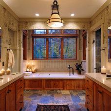 Rustic Bathroom by GREAT FALLS CONSTRUCTION