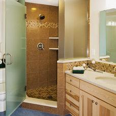 Craftsman Bathroom by Cornerstone Builders Inc