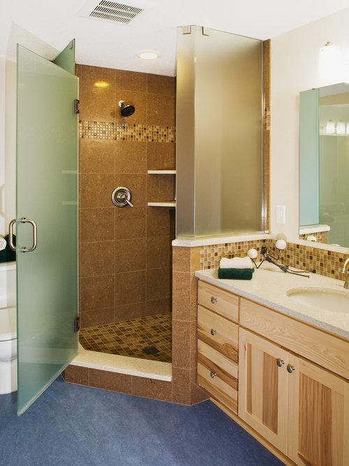 craftsman corner shower idea in portland