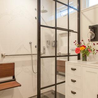 Arts and crafts bathroom in Los Angeles.