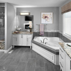 Transitional Bathroom by Kimberley Homes