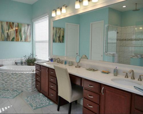 maritime badezimmer mit eckbadewanne ideen design. Black Bedroom Furniture Sets. Home Design Ideas