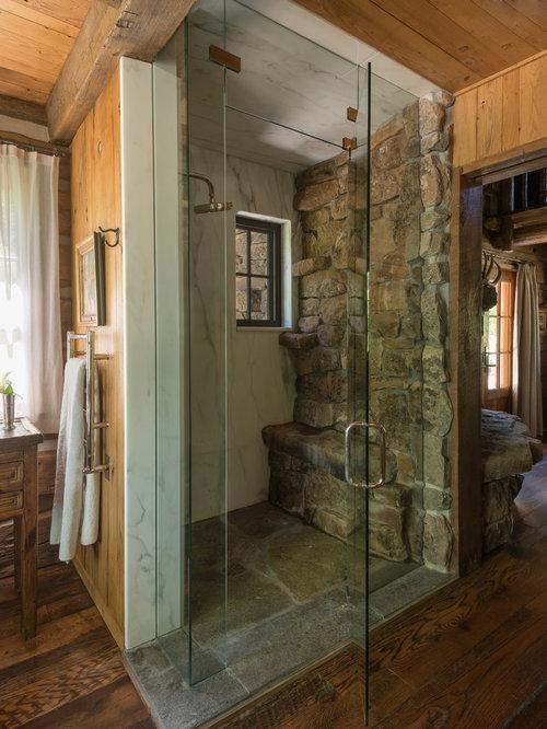 Rustikale Badezimmer Fotos : Rustikale badezimmer mit bodengleicher dusche design