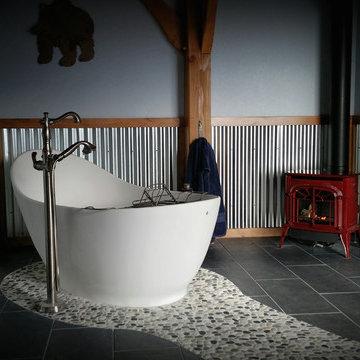 New! Larimer County- Contemporary Master Bath Remodel