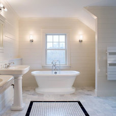 Farmhouse Bathroom by Suburban Renewal Inc