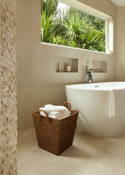 Great Contemporary Bathroom by Red Orchid Designs