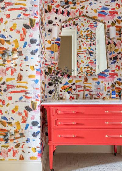 Неоклассика Ванная комната by Krysten Ledet Interiors