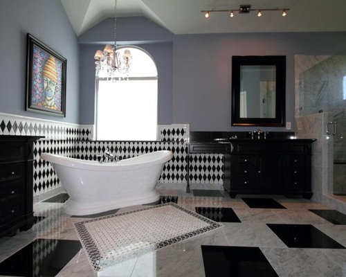 New Orleans Themed Kitchen And Baths In Black White