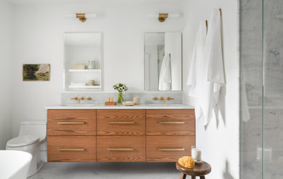 A Too-Big Master Bath Becomes Two Just-Right Bathrooms